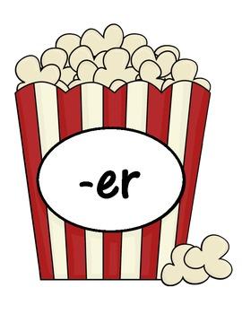 Popcorn Sort... -ar, -or, -er Picture Sound Sort