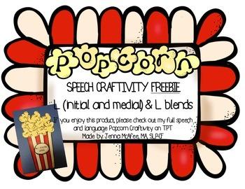 Popcorn Speech Craftivity FREEBIE
