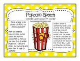 Popcorn Speech {FREEBIE}