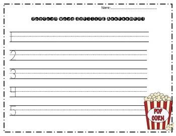Popcorn Spelling Test