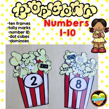 Popcorn Subitizing Number Sort for Centers
