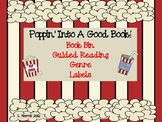 Popcorn Theme Book Bin Guided Leveled Reading Labels