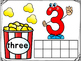 Popcorn Ten Frame Number Mats 1-10
