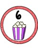 Popcorn Theme Table Numbers 1-8