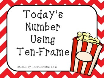 Popcorn Theme-- Today's Number Using Ten Frame
