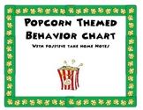 Popcorn Themed Behavior Chart