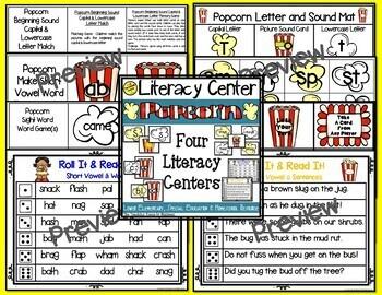 Popcorn Themed Literacy & Math Bundle