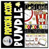 Popcorn Themed Mini Bundle: Clock Labels & Birthday Decor