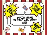 Popcorn Themed Ten Frame Counting Mats