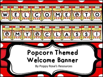 Popcorn Themed Welcome Banner