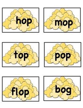 Popcorn Themed Word Sort