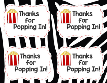 Popcorn Treat Labels Jungle Theme