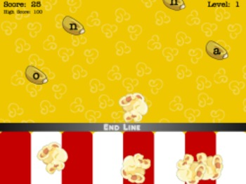 Popcorn Typer - Keyboarding Game (Playable at RoomRecess.com)