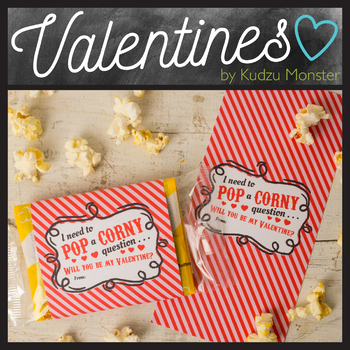 graphic about Popcorn Valentine Printable referred to as Popcorn Valentine