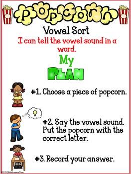 Popcorn Vowel Sort Center