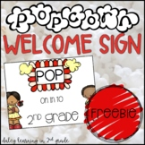 Popcorn Welcome Sign {FREEBIE}