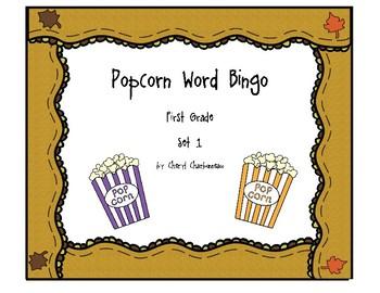 Popcorn Word Bingo
