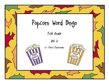 Popcorn Word Bingo Set 2