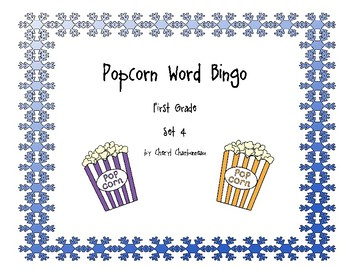 Popcorn Word Bingo Set 4