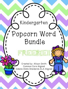 Popcorn Word Bundle Freebie