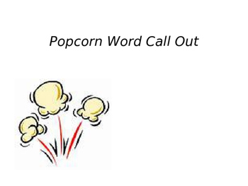 Popcorn Word Call Out Powerpoint