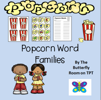 Popcorn Word Families- A CVC Game