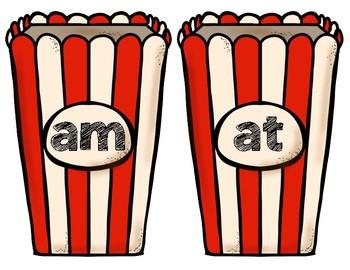 Popcorn Word Family Match