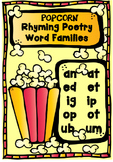 Popcorn Word Family - Short Vowel Sounds & Rhyming Poetry