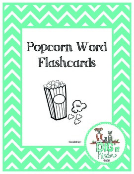 Popcorn Word Flashcards - English Sight Words