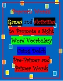 Popcorn Word Games and Activities To Build A Sight Word Vocabulary- Dolch Primer