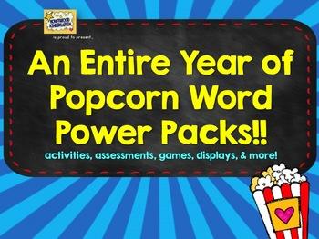 Popcorn Word POWER PACKS! Make sight words FUN!