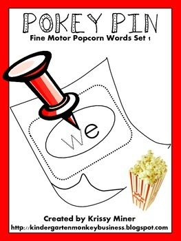 Popcorn Word Pokey Pin 29 Weeks of Center!