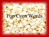 Popcorn Word Powerpoint (Editable)