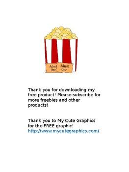 Popcorn Word Sentences (Editable)