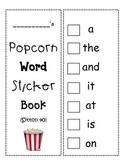 Popcorn Word Sticker Book (Sitton 40)