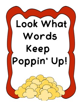 Popcorn Word Wall!