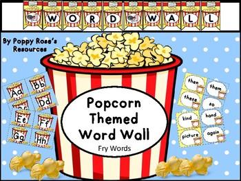 Popcorn Word Wall - Fry Edition