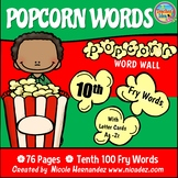 Popcorn Word Wall - (Fry's 10th 100 Sight Words) With Alph