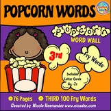 Popcorn Word Wall - (Fry's 3rd 100 Sight Words) With Alpha