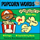 Popcorn Word Wall - (Fry's 4th 100 Sight Words) With Alpha