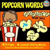 Popcorn Word Wall - (Fry's 7th 100 Sight Words) With Alpha