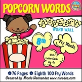 Popcorn Word Wall - (Fry's 8th 100 Sight Words) With Alpha