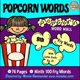 Popcorn Word Wall - (Fry's 9th 100 Sight Words) With Alpha