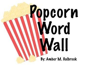 Popcorn Word Wall Headers
