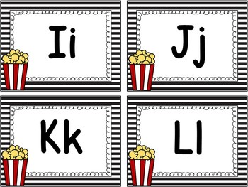 Popcorn Word Wall Letters With Editable Word Page