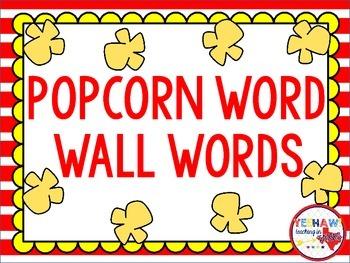 Popcorn Word Wall Words