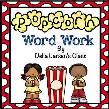 Literacy Center Word Work Activity for Kindergarten and Fi