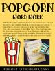 Popcorn Word Work Freebie!