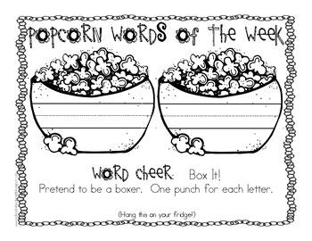 Popcorn Word of the Week Cheers