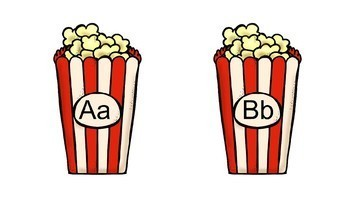 Popcorn Word Wall Headers A-Z